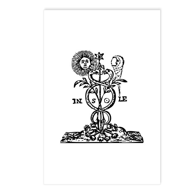 Caduceus Alchemy Symbol Postcards Package Of 8 By Symbolsonstuff