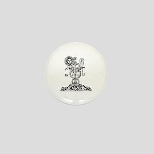 Caduceus Alchemy Symbol Mini Button