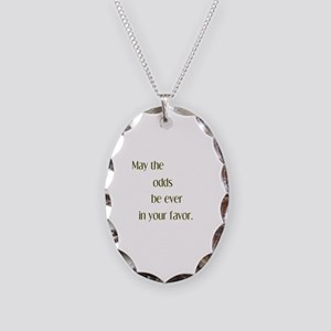 Odds Favor Necklace Oval Charm