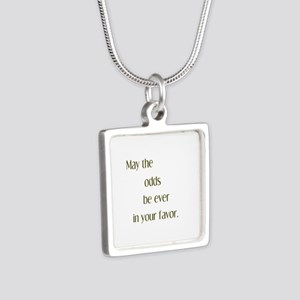 Odds Favor Silver Square Necklace