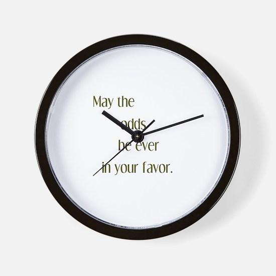 Odds Favor Wall Clock