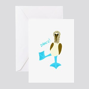Blue-footed Booby Dance! Greeting Cards (Package o