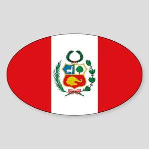 Peru's flag Oval Sticker