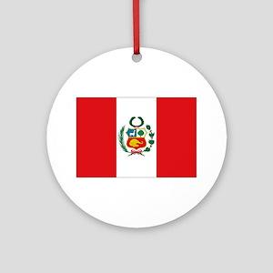 Peru's flag Ornament (Round)