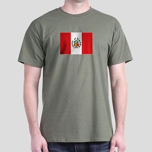 Peru's flag Dark T-Shirt