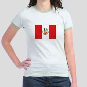 Peru's flag Jr. Ringer T-Shirt