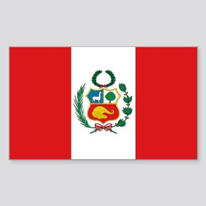 Peru's flag Rectangle Sticker