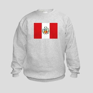 Peru's flag Kids Sweatshirt
