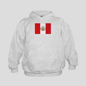 Peru's flag Kids Hoodie