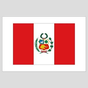 Peru's flag Large Poster