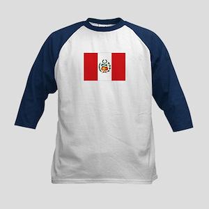 Peru's flag Kids Baseball Jersey