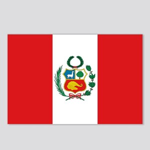 Peru's flag Postcards (Package of 8)
