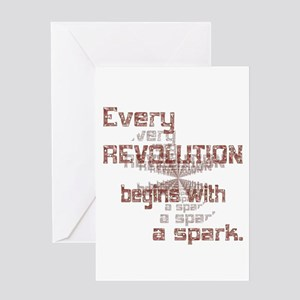 Revolution Spark Greeting Card