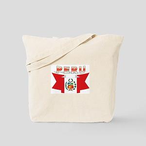 The flag of Peru ribbon Tote Bag