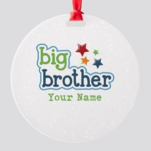 Personalized Big Brother Round Ornament