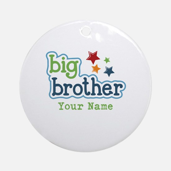 Personalized Big Brother Ornament (Round)