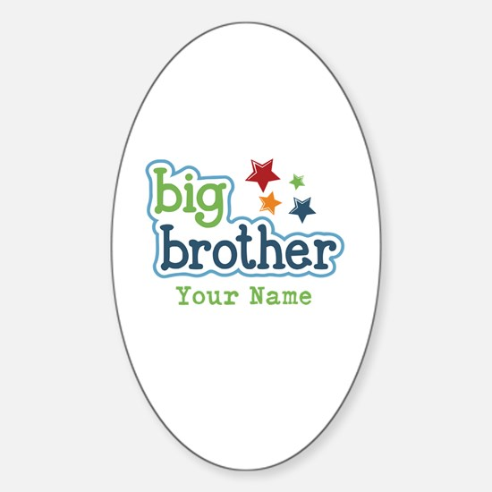 Personalized Big Brother Sticker (Oval)