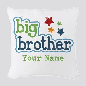 Personalized Big Brother Woven Throw Pillow