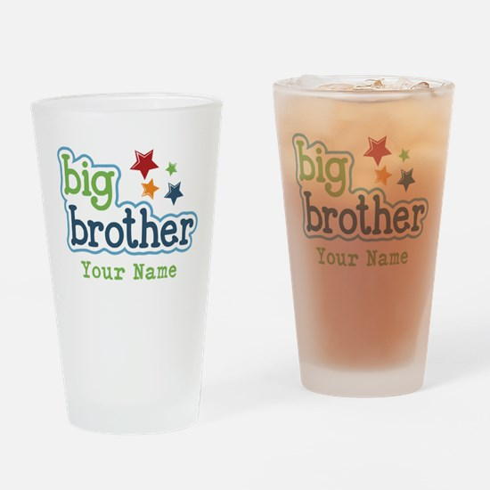 Personalized Big Brother Drinking Glass