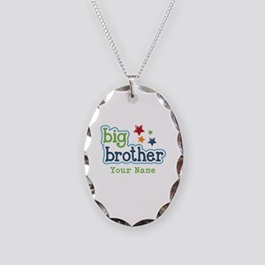 Personalized Big Brother Necklace Oval Charm