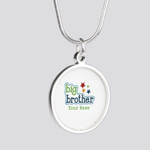 Personalized Big Brother Silver Round Necklace