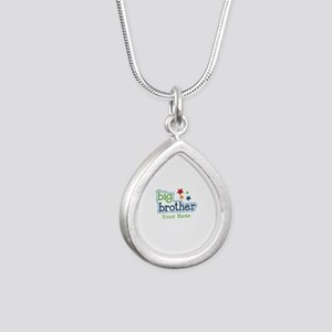 Personalized Big Brother Silver Teardrop Necklace