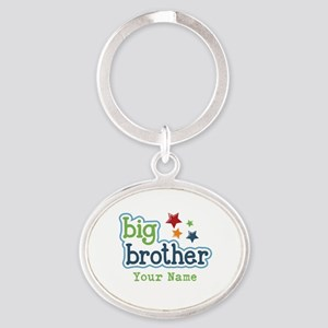 Personalized Big Brother Oval Keychain