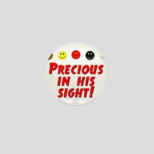 Precious In His Sight Mini Button