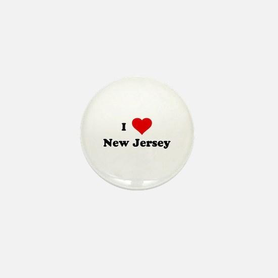 I Love New Jersey Mini Button