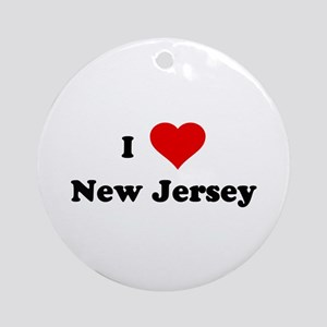 I Love New Jersey Ornament (Round)