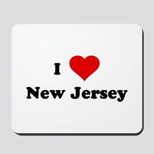 I Love New Jersey Mousepad