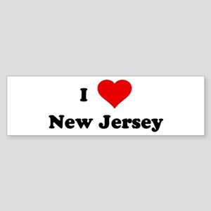 I Love New Jersey Bumper Sticker