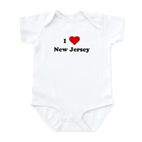 I Love New Jersey Infant Bodysuit