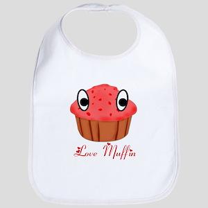 Valentine's Day Love Muffin Bib