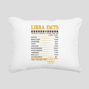 Libra Facts Zodiac Rectangular Canvas Pillow