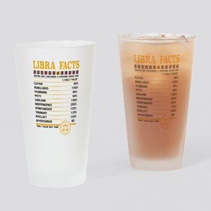 Libra Facts Zodiac Drinking Glass