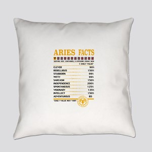 Aries Facts Everyday Pillow