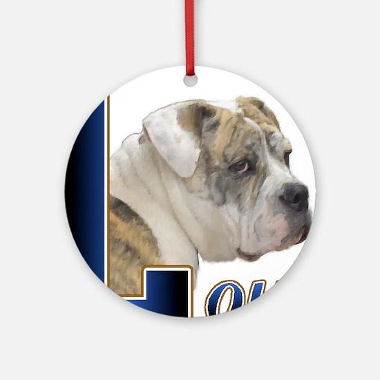 English Bulldog Love Ornament (Round)