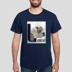 English Bulldog Love Dark T-Shirt