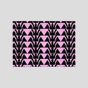 Diner Horns In Pink 5'x7'Area Rug