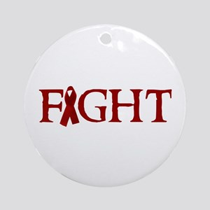 FIGHT AIDS Ornament (Round)