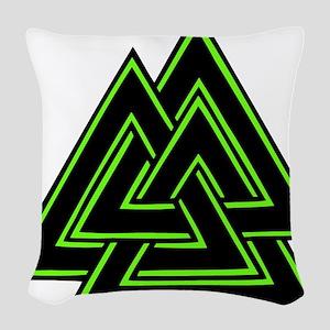 valknut Woven Throw Pillow