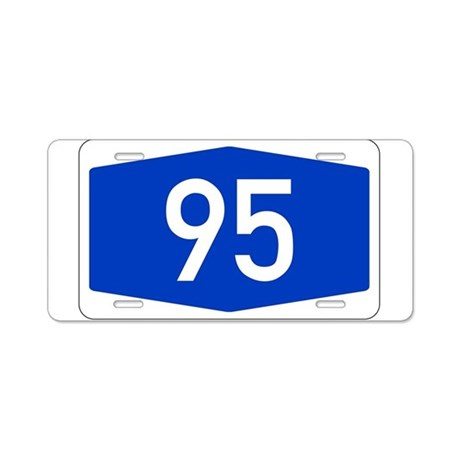 Number 95 Aluminum License Plate By Number95