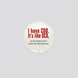 CDO OCD Mini Button