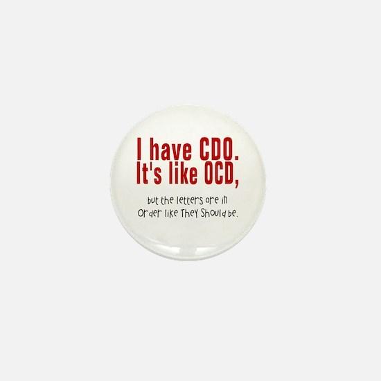 CDO OCD Mini Button
