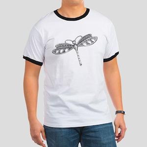Metallic Silver Dragonfly T-Shirt