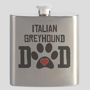 Italian Greyhound Dad Flask