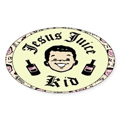 Jesus Juice Oval Decal