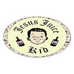 Jesus Juice Oval Sticker