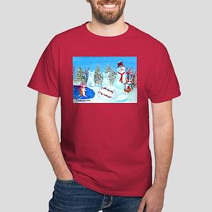 Snow Corgis II Dark T-Shirt